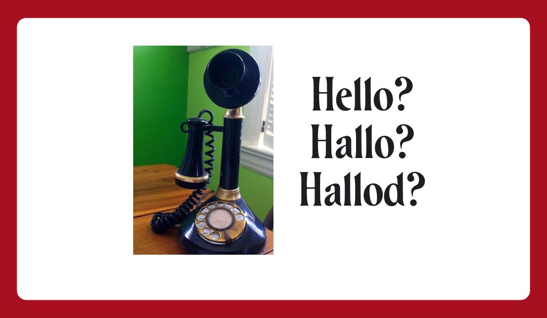 Hallo? Hello?
