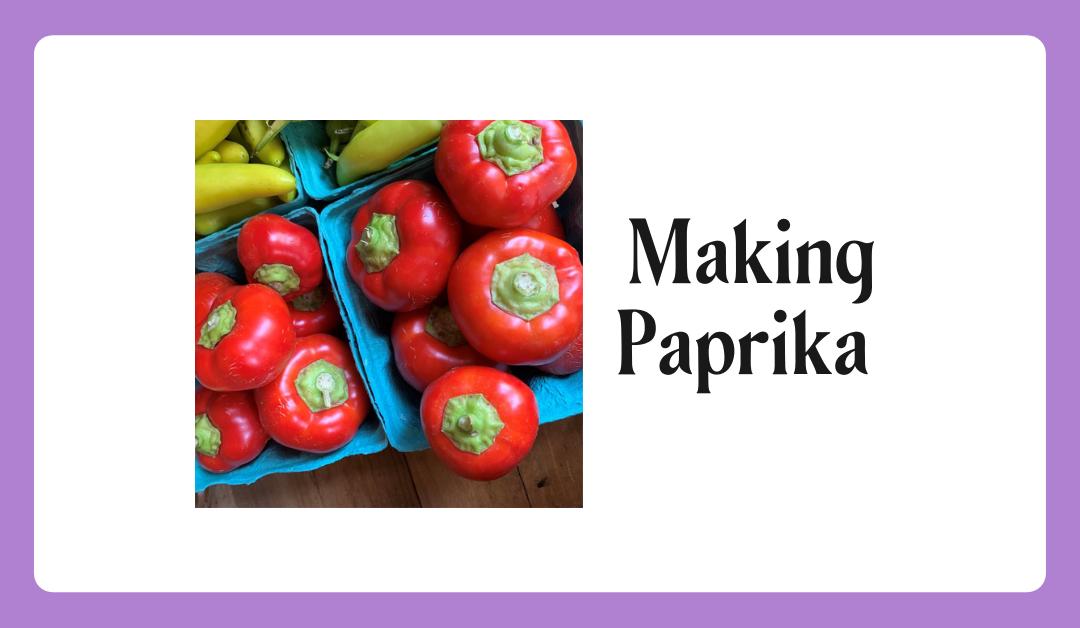 Making Homemade Paprika
