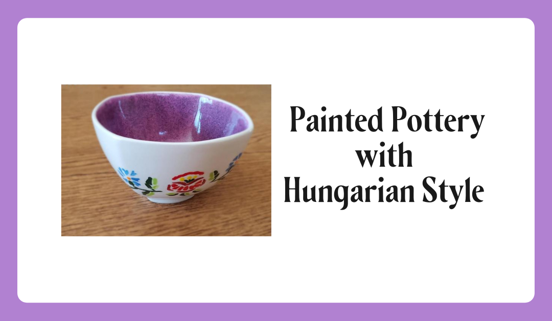 Painting Hungarian Designs on Plates
